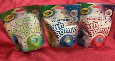 Variety Pack of 3 Crayola Color-Twist Bath Bomb Fizzie for Kids Multiple Colors