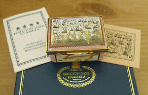 Boxed Ltd Ed Halcyon Days 400th Anniversary of The Spanish Armada Enamel Box