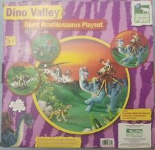 Dinosaur Dino Valley Giant Brachiosaurus Toy  Playset with Helicopter