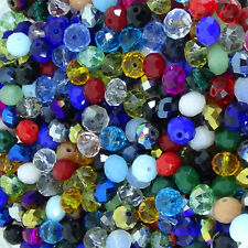 60 Abalorios 8x6mm Bolas de Cristal Facetadas Variadas Bisuteria Perline Beads