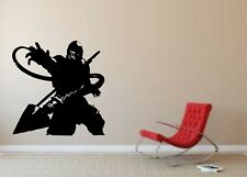 Wall Sticker Mural Decal Vinyl Decor Scorpion Mortal Kombat Lets Play The Game