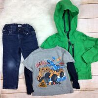 Toddler Boys 3T Fall Outfit Lot Jeans Jacket Tee - Gap, Childrens Place, Carters