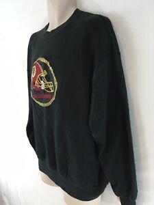 Jerzees Washington Redskins Mens XL Black Vtg 80/90s USA Made Crew Sweatshirt