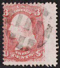 "US Sc# 85C USED { RARE ""SPLIT Z GRILL"" VARIETY } 10c WASHINGTON 1867 CV$ 3750.00"