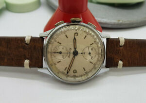 VINTAGE BREITLING CHRONOGRAPH SILVER DIAL MANUAL WIND MAN'S WATCH