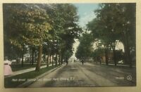 Main Street, East to Wisner Park ELMIRA NY early divided-back postcard
