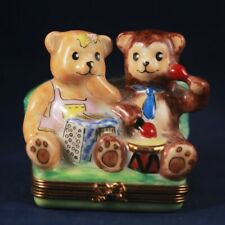 Limoges trinket box. Musical Bears. Limited Edition. Numbered and Signed.