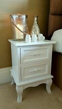 WHITE WOODEN BEDSIDE TABLE NIGHTSTANDS TABLES BEDROOM FURNITURE TABLE CABINET