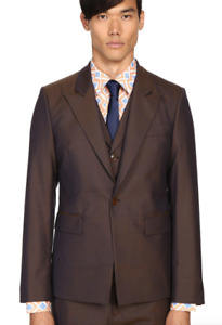 Vivienne Westwood Blue/Green Wool Waistcoat Jacket Men's Size 54 1023