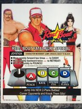 Real Bout Fatal Fury Special Neo Geo Arcade Marquee