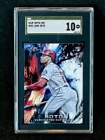 2018 Topps Fire #181 Juan Soto Rookie SGC 10 Gold Label Pop 1