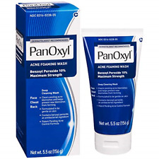 PanOxyl Acne Foaming Wash Benzoyl Peroxide 10% Maximum Strength 5.5 oz Exp 08/22