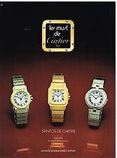 Publicité Advertising 1982 Les Montres Santos de Cartier