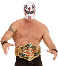 Wrestlingmaske weiß NEU - Karneval Fasching Maske Gesicht