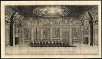 Large Antique Print-THE HAGUE-TREVESZAAL-BINNENHOF-CABINET-Riemer-Boitet-1730
