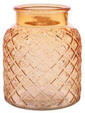 Colore Ambra Vaso di fiori in vetro bocca larga vaso di fiori reticolo inciso design