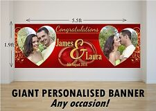 Personalised GIANT Large Congratulations Wedding Engagement Mr & Mrs Banner N76
