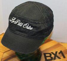 LE PETIT OUTRE MISSOULA MONTANA BAKERY CADET/MILITARY STYLE HAT ADJUSTABLE BX4