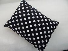 Child Toddler Cot Pillowcase Black White Polka Dots 100% Cotton