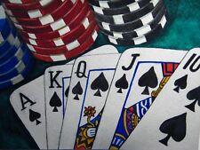 Panting Casino Las Vegas Game Playing Cards Chips 5x7 Art