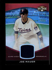 JOE MAUER 2011 TOPPS TRIPLE THREADS GAME USED WORN JERSEY #06/36 AG4762