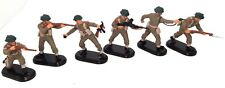 BRITAINS DEETAIL BRITISH W.W.II 6 SOLDIERS - BLACK BASES