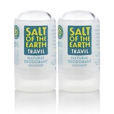 SALT OF THE EARTH NATURAL CRYSTAL ROCK DEODORANT 2x50g -All Natural