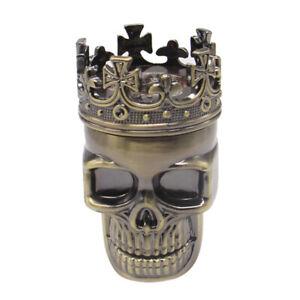 3 Layers Skull Metal Herb Tobacco Spice Smoking Grinder Crusher (Bronze)