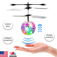 2021 Flash Flying Ball Infrared Induction Colorful LED Disco RC Helicopter Toy