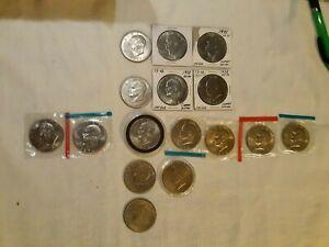 Lot of 16 Eisenhower dollars