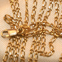100% Genuine 9K Yellow Gold Figaro 1:1 Chain 56cm  Lobster Claw. As New
