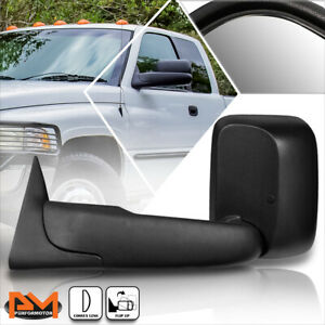 For 94-02 Dodge Ram 1500/2500/3500 Manual Telescoping Black Towing Mirror Left