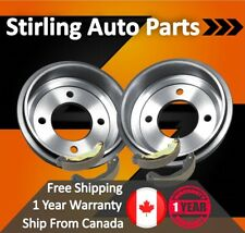 "1996 1997 1998 1999 For Dodge Grand Caravan Rear Drums and Shoes 15 16 17"" Whls"