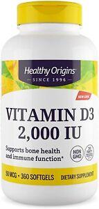 Vitamina D3 2000IU 360 Capsule al'Olio di Oliva Puro Vegetarian/ Dura 1 Anno