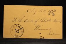 Indiana: Goshen 1855 Stampless Cover, Charge Box 44, Black CDS, PAID 3 in Arc