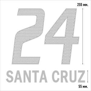 Santa Cruz 24. Bayern Munich Away football shirt 2003 2004 FLEX NAMESET NAME SET