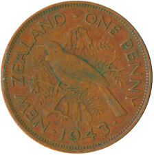 COIN / NEW ZEALAND / ONE PENNY KING GEORGE VI. 1943     #WT6337
