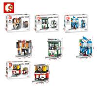 Sembo Blocksteine Sembo Shop Restaurant Lederschuhe Kinder Figur Spielzeug Model