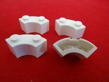 LEGO PART 3063 WHITE 2 x 2 ROUND BRICK MACARONI WITH STUD NOTCH x 4