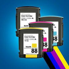 4 Ink Cartridges for HP 88XL Officejet Pro K550DTWN L7500 L7580 L7600 L7680