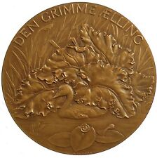 Denmark literature HANS CHRISTIAN ANDERSON Ugly Duckling by Salomon bronze 56mm