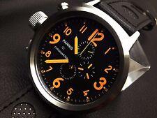 50mm Parnis Japan Quartz Movement Men Chronograph Russian Watch Stainless Case