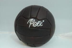 Pele Signed Leather Vintage Soccer Ball - Autographed PSA DNA ITP Witnessed