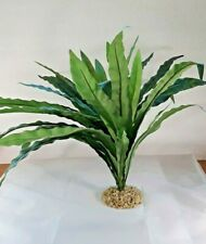 "Large Sword Plant Silk Aquarium Plants Fish Tank Freshwater 20"" Across"