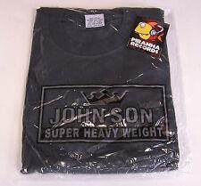John Son Premium Quality Charcoal T-Shirt 4XL 100% Cotton Piranha Records