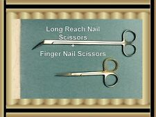 Toe Nail Scissors 16cm+ Finger Nail Scissor11 cm Gold Ring Pedicure Manicure