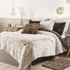 NEW WINTER COLLECTION CAPPUCCINO SHAGGY BLANKET WITH SHERPA SOFT WARM CAL KING