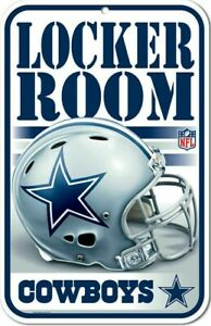 "DALLAS COWBOYS NFL FOOTBALL LOCKER ROOM helmet sign 11"" x 17"" Man Cave FREE SHIP"