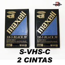 2 CINTAS DE VIDEO S-VHS-C DE 30 MINUTOS