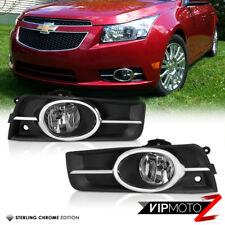 2011-2014 Chevy Cruze Chrome Front Bumper Driving Fog Lights Lamp+Harness+Switch